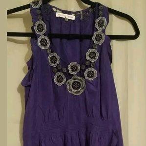 Rebecca Taylor Silk Woman Mini Dress Size 0 Purple